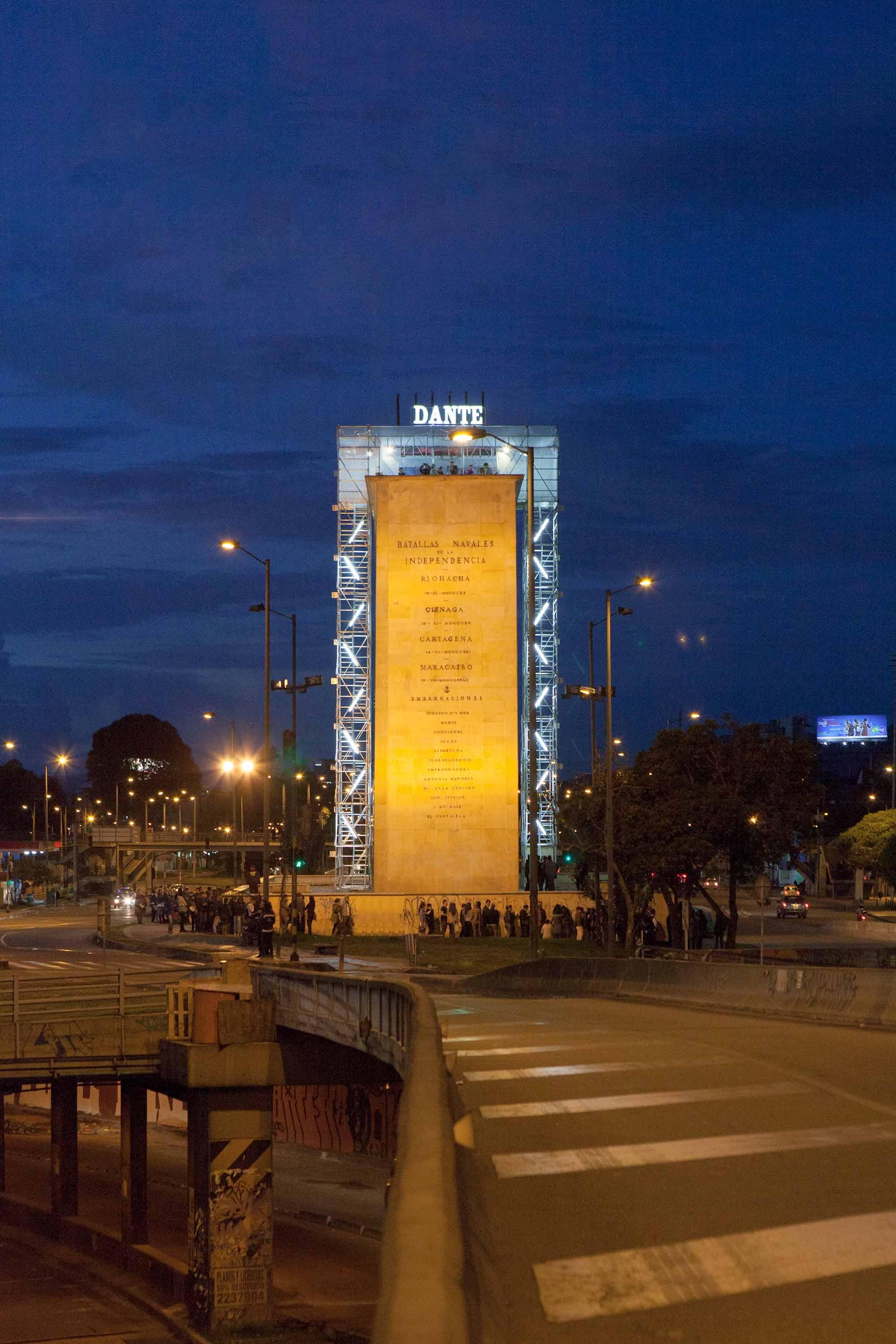 """Instalación """"Maqueta para el Dante"""" Monumento a los Héroes 2014"""
