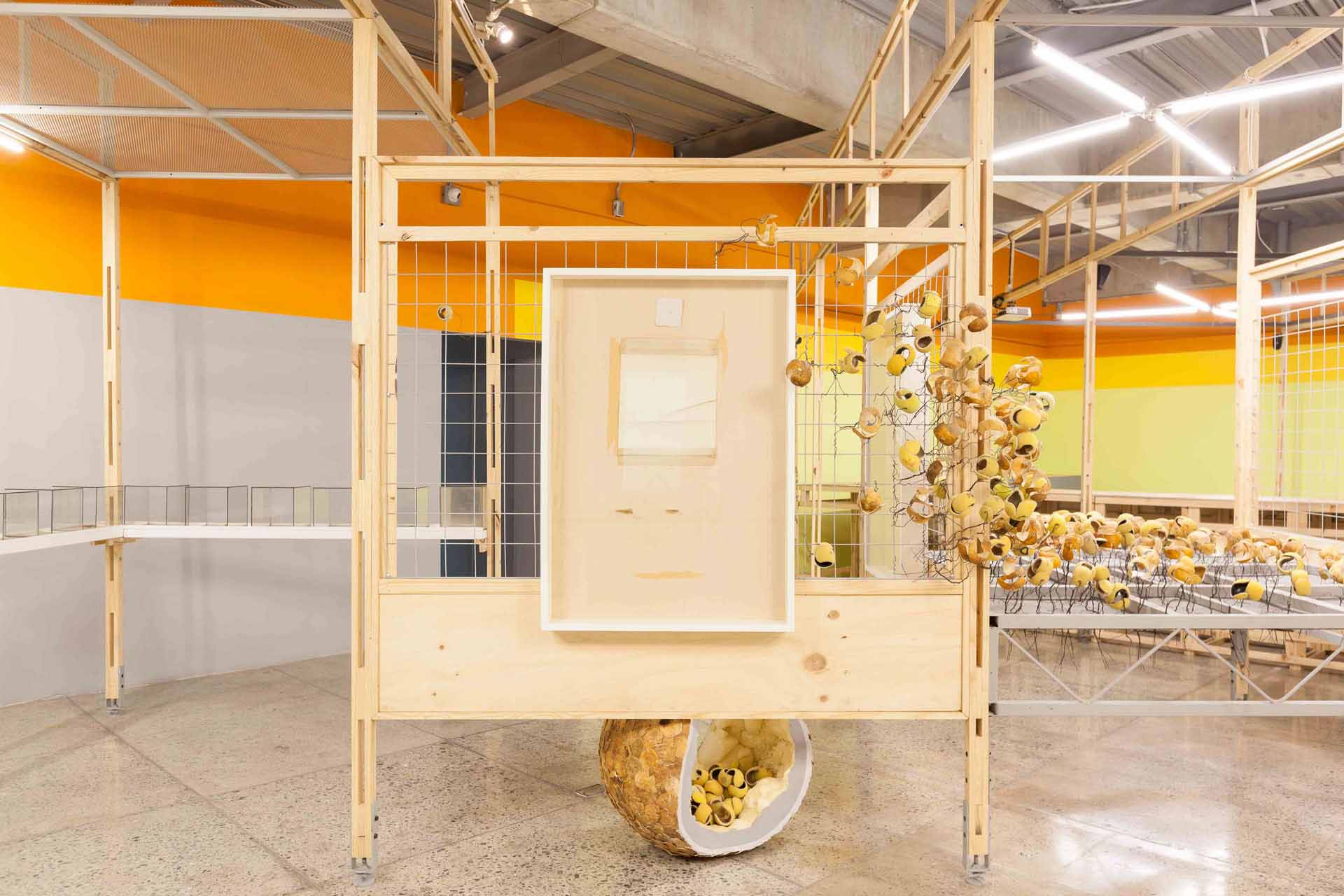 """Instalación """"La Forma del Futuro"""" Museo La Tertulia 2017"""