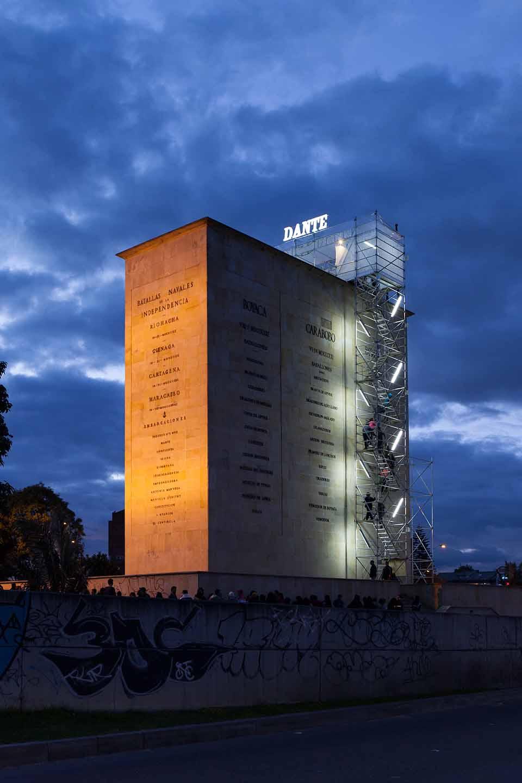 Instalación «Maqueta para el Dante» Monumento a los Héroes 2014