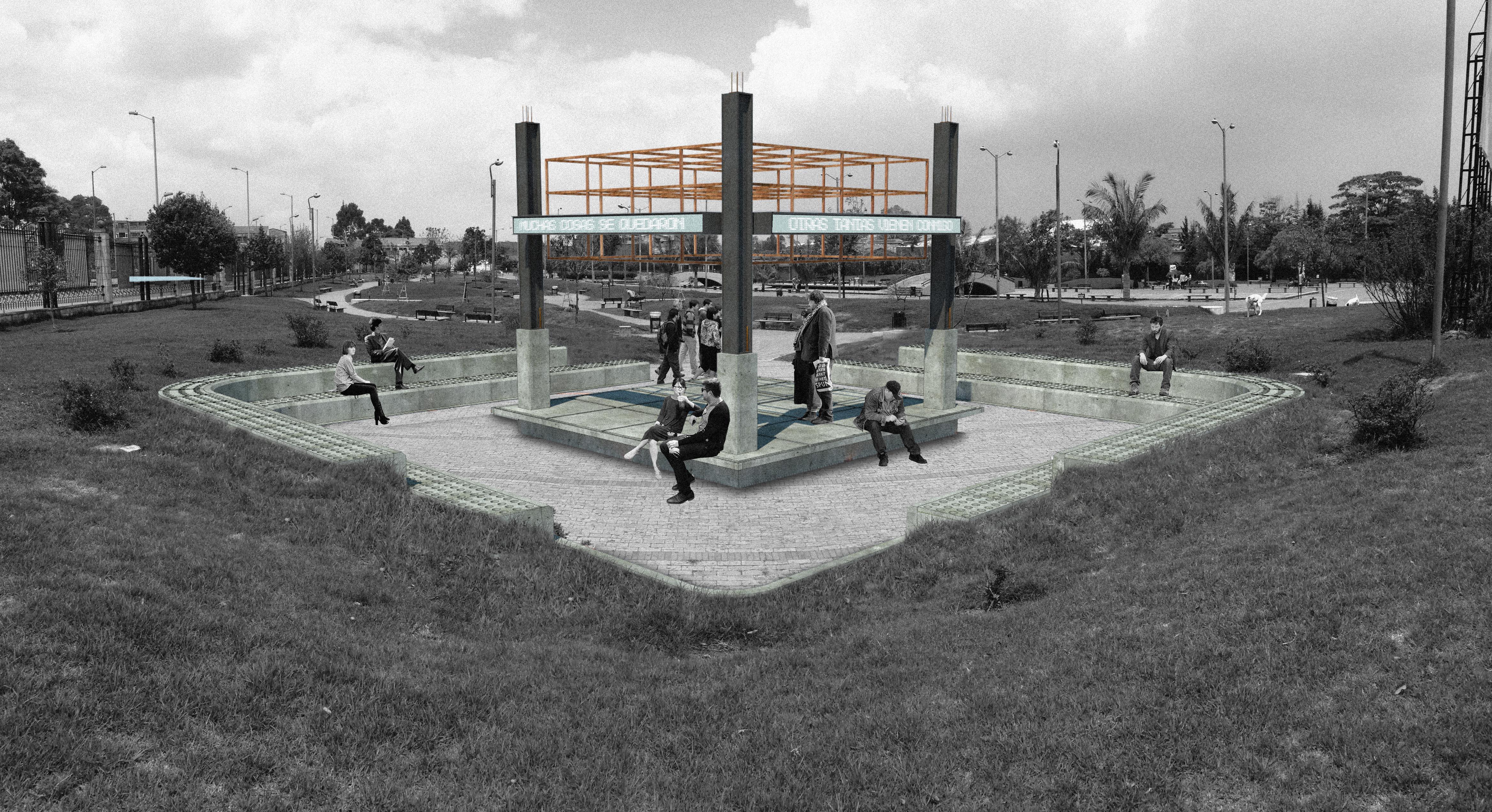 """Monumento """"Escenario posible"""" Parque del Bicentenario 2016"""
