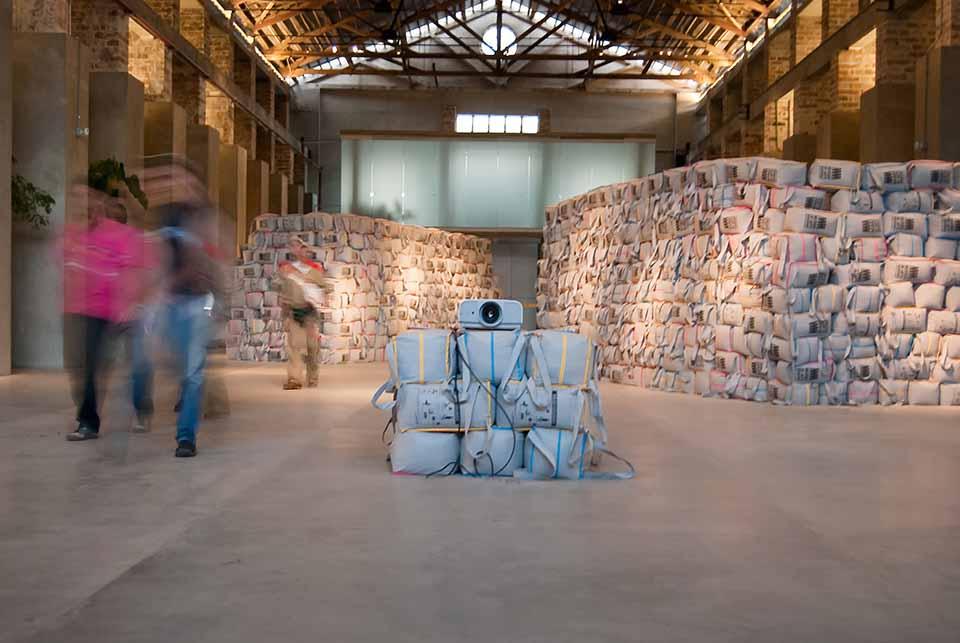 Instalacion «Acciones de E-cosecha» MAMM Medellín 2009
